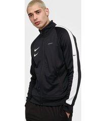 nike sportswear m nsw swoosh jkt pk jackor black/white