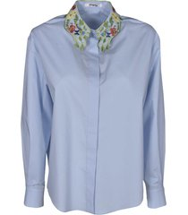 vivetta floral collar embroidery shirt