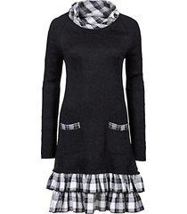 abito in maglia e tessuto (nero) - rainbow