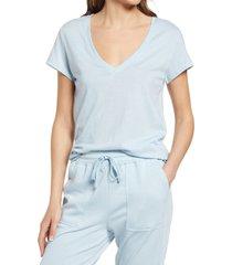 women's splendid eco v-neck t-shirt, size small - blue