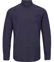 dorset button down shirt skjorta casual blå morris