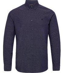 dorset button down shirt skjorta casual blå morris