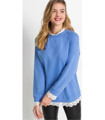 oversized sweater met kant