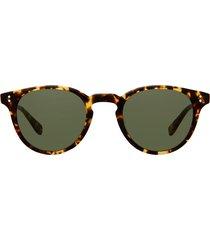 garrett leight garrett leight clement sun tuscan tortoise sunglasses