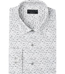 alfani men's classic-fit textured shirt, created for macy's
