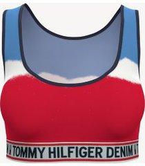 tommy hilfiger women's essential tie-dye bra red/ white/ blue - s