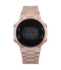relógio feminino euro digital - eubj3279af4j rosê