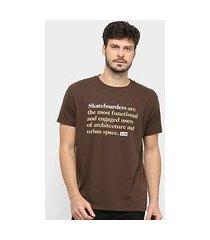 camiseta osklen basic jazz skateboarders masculina