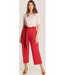 pantalón rojo amplio rojo 12