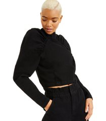 culpos x inc jean blouse, created for macy's