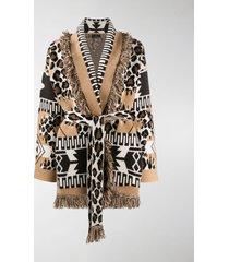 alanui multi-pattern knitted cardigan