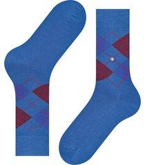 burlington socks manchester mercerised cotton socks | blue/burgundy | 20180-6553