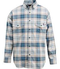 wolverine men's fr plaid long sleeve twill shirt bering, size xxl