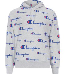 blusa masculina moletom champion pullover hoodie - cinza