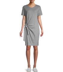 vince women's side-tie t-shirt dress - heather grey - size xs