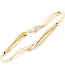 ippolita women's 18k yellow gold & diamond bangle bracelet