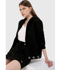 chaqueta negro-blanco calvin klein