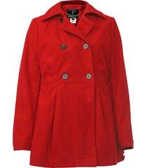 casaco queens paris botões vermelho