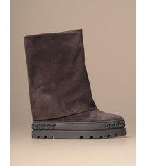 casadei flat booties casadei fusbet sneakers boot in suede