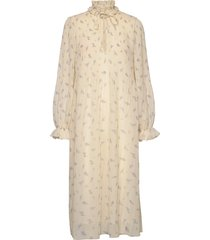 pleated georgette jurk knielengte ganni