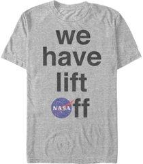 nasa men's we have life off logo short sleeve t-shirt