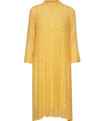 elm shirt dress aop 9695 knälång klänning gul samsøe samsøe