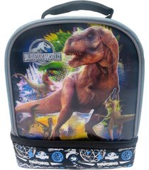 jurassic world 3-d t-rex dual-chamber lead-safe insulated lunch tote box bag $24