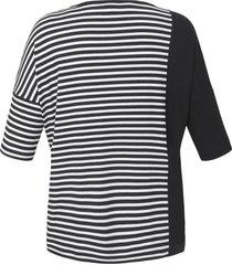 shirt met 3/4-mouwen en verlaagde schoudernaden van persona by marina rinaldi multicolour