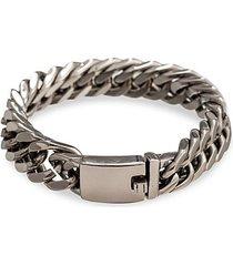 christian titanium chunky chain bracelet