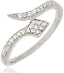 anel regulável cobra cristal di capri semi jóias x ouro branco prata
