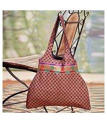 shoulder bag, 'rajasthan purple' (india)