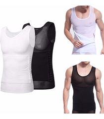uomo body shapewear slim corsetto tenere dietro pancia