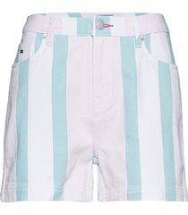 tjw colorblock stripe short bermudashorts shorts blå tommy jeans