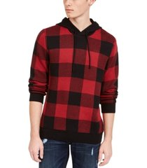 american rag men's buffalo plaid hoodie, created for macy's