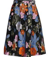thea, 1035 organza knälång kjol multi/mönstrad stine goya