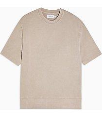 topman beige wash sweatshirt - beige
