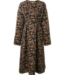 08sircus floral jacquard midi dress - multicolour