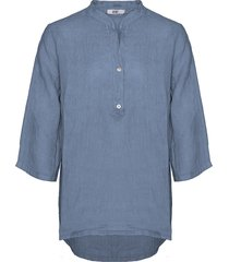 tiffany shirt linen denim blue, 17661