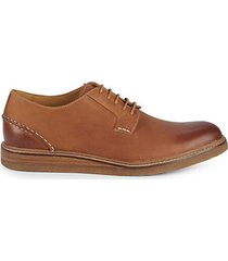 gold cup crepe leather derby shoes