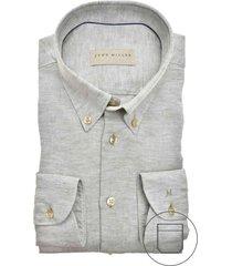 john miller mouwlengte 7 overhemd grijs slim fit