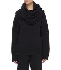 'noemie' oversize cowl neck wool blend sweater
