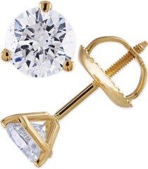 certified 1-1/4 ct. t.w. diamond stud earrings in 14k white or yellow gold