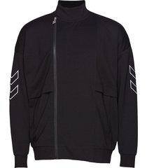 hmlconrad zip jacket sweat-shirt tröja svart hummel hive