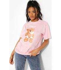 petite teddy t-shirt, light pink