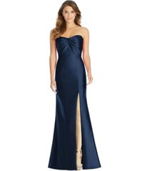 alfred sung strapless sweetheart gown