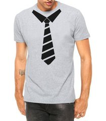 camiseta criativa urbana gravata engraçada divertida manga curta - masculino