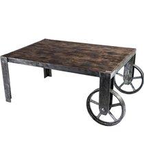 skd-3 carriola stolik kawowy drewno lite i stal