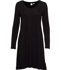 u-neck swing dress knälång klänning svart gap