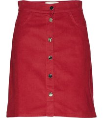molle kort kjol röd stig p