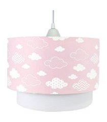 lustre tubular duplo nuvem chevron rosa quarto bebê infantil menina
